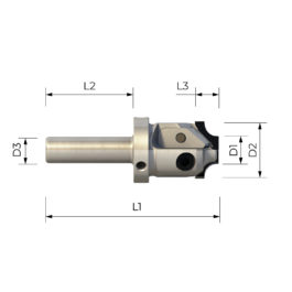 FPS 3002 HIGH PRECISION SHANK CUTTER MULTITASKING WITH INTERCHANGEABLE PROFILED PCD INSERTS WITH CENTER CUTTING KNIFE