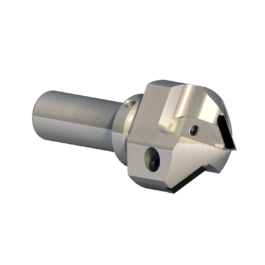 """FPS 3004 HIGH PRECISION SHANK CUTTER WITH INTERCHANGEABLE PCD PROFILED INSERTS FOR """"V"""" PROFILES AT 90° / 91°"""